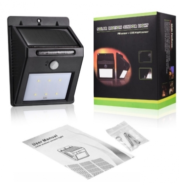16 Bright Led Wireless SOLAR Powered Motion Sensor Outdoor Waterproof Light