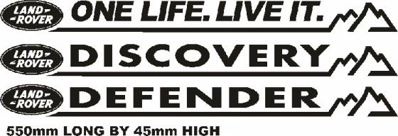 Land Rover defender decals stickers graphics