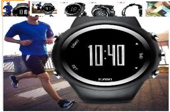 EZON GPS Timing Watch Outdoor Sport Multifunction Watch Fitness Distance Speed Calories Counter. New