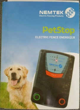 Pet Stop Electric Fence Energizer New