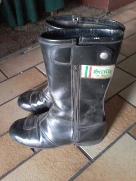 BARGAIN SIRILLI m/cycle boots for sale plus BONUS