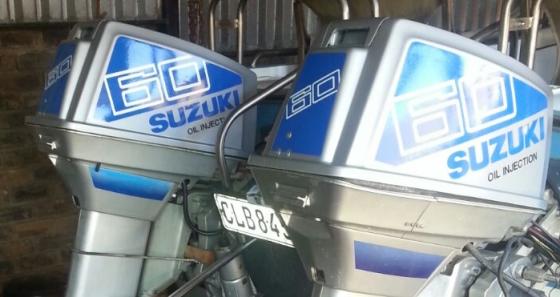 Suzuki 70 HP motor cowl stickers decals sets