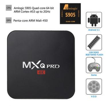 MXQ Pro 4K S905 Smart Android TV Box Media Player (Showmax, Netlfix, WiFi, Kodi)