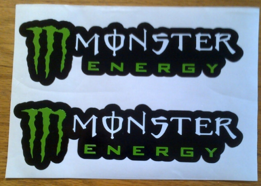 Pair off Monster Energy decals stickers graphics
