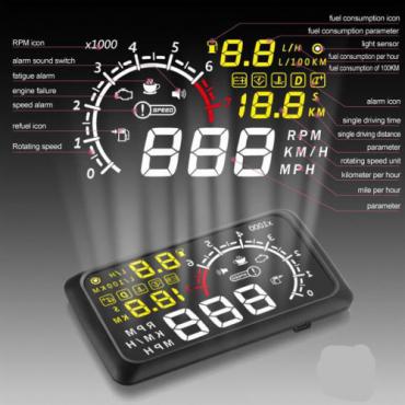 Universal Car OBD2 II Projector Display HUD Head Up Display MPH KMH Sp