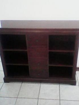 Solid wood side board