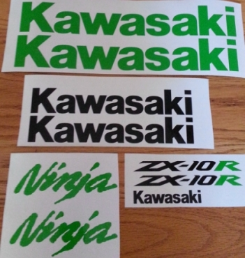 Kawasaki ZX 10R decals stickers for a 2007 -10 model