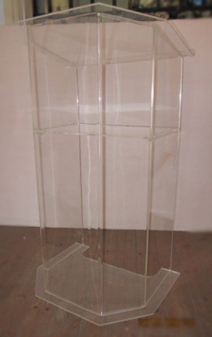 The Pentagon Clear style Acrylic Podiums