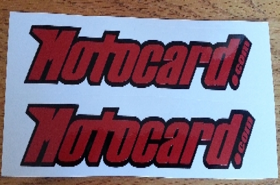 Pair of Motocard decals stickers graphics