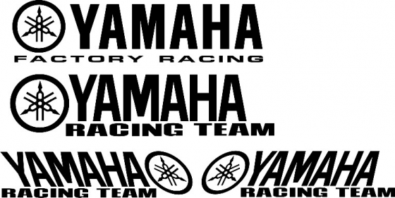 Pair of Yamaha Racing Team decals stickers graphics