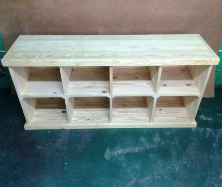 Bookshelf Farmhouse series 1750 with compartments Raw