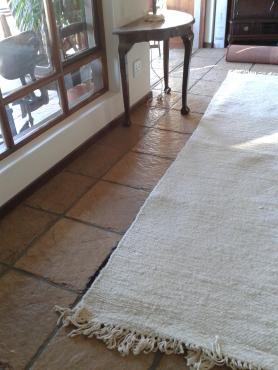 100% all wool cream lounge carpet