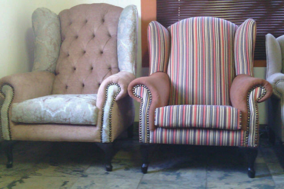 Wingback Chairs ( Newly made)