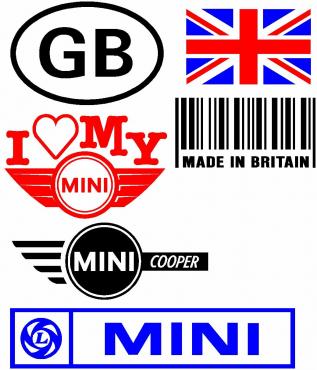 Mini Cooper JCW decals stickers graphics