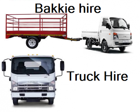 Bakkie and trailer for hire with driver 0725626406