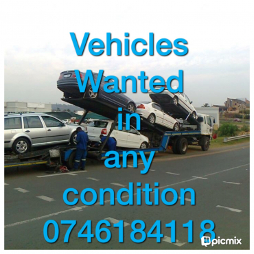 Accident damaged vehicles needed urgently