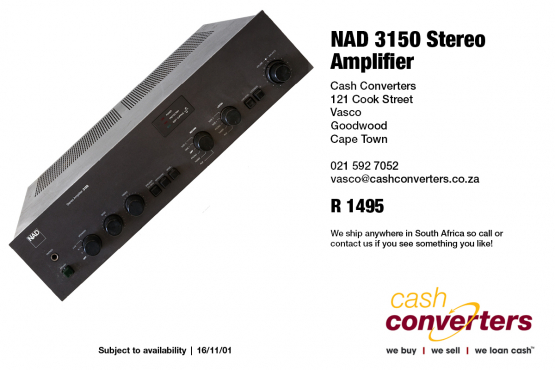 NAD 3150 Stereo Amplifier   Junk Mail