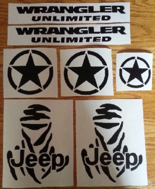 Jeep Dakar graphics stickers decals