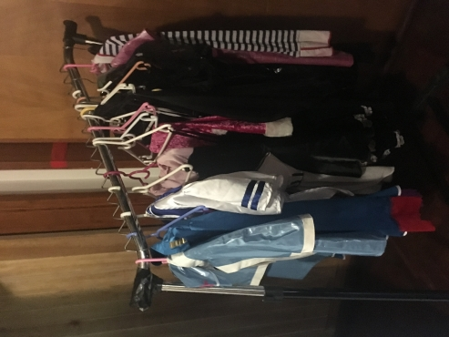 Ladies fashion clothes in bag
