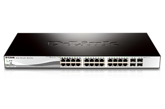 D-Link 28-Port Gigabit WebSmart Switch with 24 UTP and 4SFP Ports--DGS-1210-28