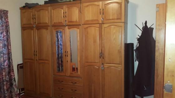 solid oak 6pc room divider.