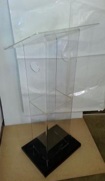 Clear Slimline Style Acrylic Podiums