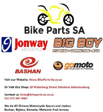 Scooter and Chinese bike spares, BIgboy Jonway Conti Bashan and Motomia