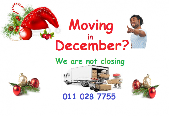 Moving? We are open in December