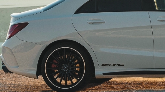 Pair of Mercedes AMG side skirt decals stickers graphics