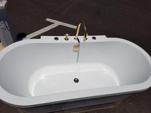Brass bath mixers