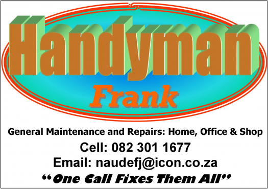 General Maintenance and Repairs, Home, Office, Shop