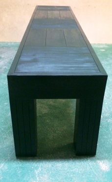 Patio bench Chunky Farmhouse series 1900 Ebony stained