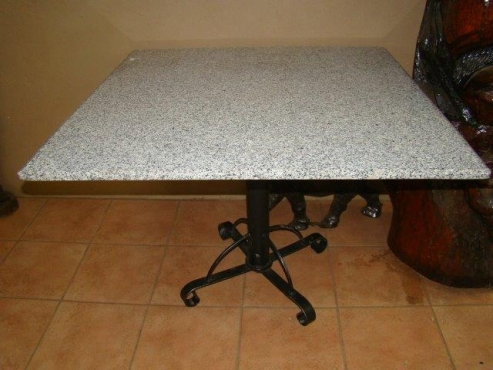 Squire Table with granite top  1m x 1m 750mm high