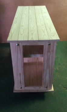 TV display unit Cottage series 1530 with door Raw