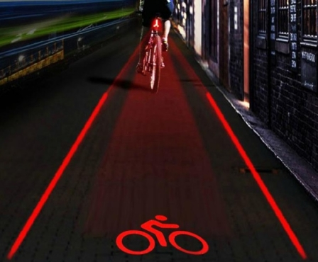 Bicycle Laser Warning Light