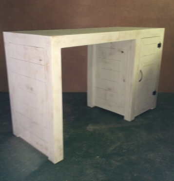 Compactum Farmhouse series 1400 change-over table White washed distressed