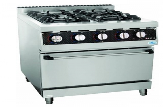 Anvil Gas Stove With Gas Oven 4 Burners (COA3004)
