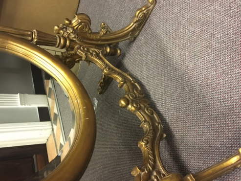 Ornate chevelle mirror
