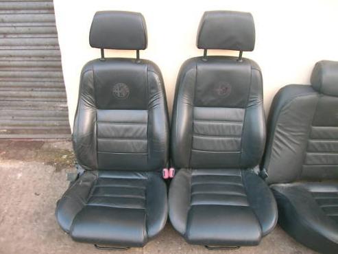Alfa Romeo 156  Black leather seats with Alfa emblem  for sale  contact 076 427 8509  whatsapp 07642