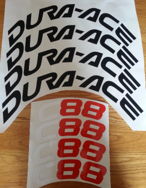 Dura-ace C88 rims decals stickers graphics kits