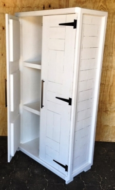 Kitchen Cupboard Farmhouse series Free standing 1800 with 2 doors (version 2) White washed
