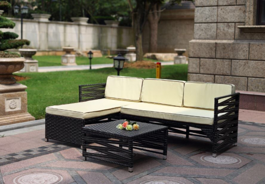 Vegas Outdoor Wicker Patio Rattan Living Sofa Furniture Set