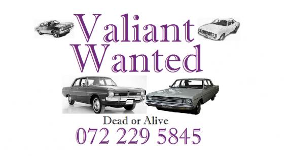 I buy Valiant cars 0722295845