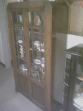 Oak display cupboard