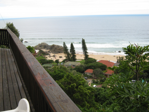 See view beach hous at Keurboom Strand, Plettenberg Bay, with spectacular view of ocean