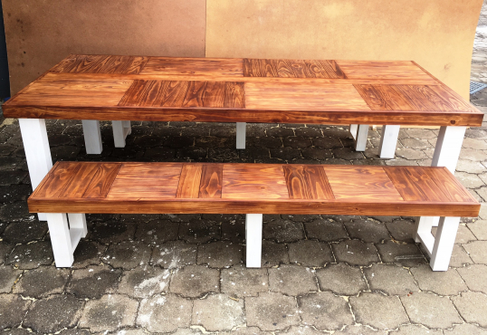 Patio table Farmhouse series 2550 Combo 1 Two tone