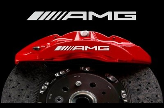Set off 9 AMG brake caliper decals graphics stickers