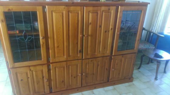Solid Oregon Pine Large TV cabinet