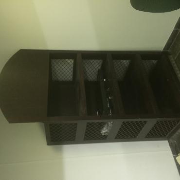 Proper wood cabinet
