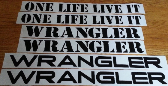 Wrangler Unlimited side graphics decals stickers